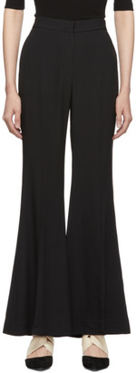 Rosetta Getty Black Straight Flare Trousers