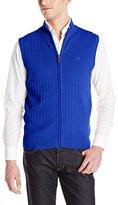 Dockers Full Zip Ribbed Cotton Sweater Vest