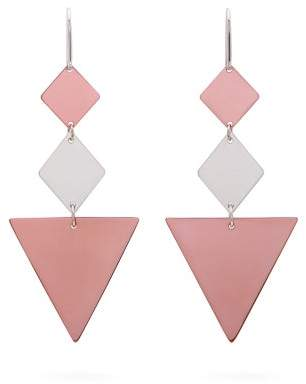Isabel Marant Triangle Drop Earrings - Womens - Rose Gold