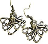 Octopus Steampunk Nautical Pirate Earrings Pendant Charm