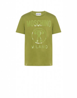 Moschino Cotton T-shirt With Double Question Mark Logo