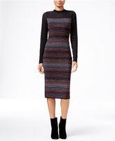 Rachel Roy Illusion Striped Midi Sweater Dress
