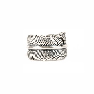 Serge Denimes Silver Feather Adjustable Ring