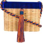 Wai Wai box woven shoulder bag