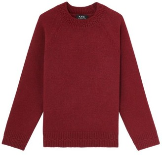A.P.C. Wicklow Wool Pullover Sweater - Size L   wool