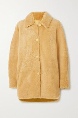 Isabel Marant Sarvey Shearling Jacket - Yellow