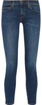 Current/Elliott The Stiletto Low-Rise Faded Skinny Jeans