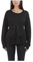RtA Women's Colette-Sweatshirt W/Corset