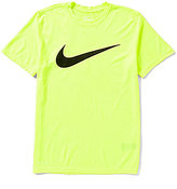 Nike Legend Dri-FIT Mesh Swoosh Crewneck Short-Sleeve Training Tee