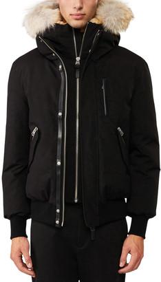 Mackage Dixon-C Lux Down Bomber Jacket w/Fur-Lined Hood, Navy