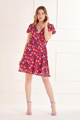 Yumi Ditsy Floral Skater Mini Dress
