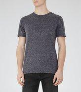 Reiss Barnington - Flecked Crew-neck T-shirt in Blue, Mens