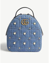 Gucci GG Marmont denim backpack