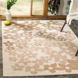 "Martha Stewart Rugs Field Flowers Beige/Brown Area Rug Rugs Rug Size: Rectangle 5'3"" x 7'7"""