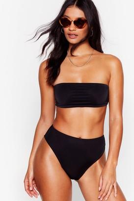Nasty Gal Womens Let's Get Salty High-Leg Bikini Bottoms - Black - 6