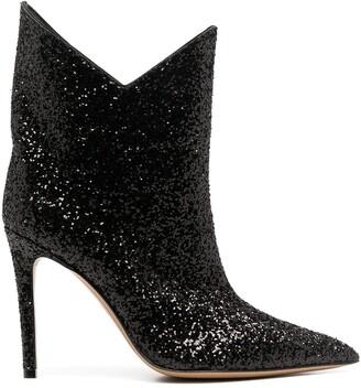 Alexandre Vauthier Glitter Western Boots