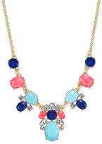 Kate Spade Gold-Tone Multi-Stone Statement Necklace