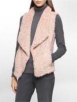 Calvin Klein Womens Faux Fur Vest Jacket
