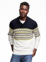 Old Navy Shawl-Collar Fair Isle Sweater for Men