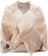 Issey Miyake pleated bolero - women - Polyester/Polyurethane - 2