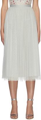Needle & Thread Ribbon Waist Tulle Ballerina Midi Skirt