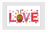Love Caterpillar Face by Eric Carle (Framed Giclee)