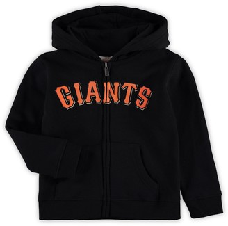 Outerstuff Preschool Black San Francisco Giants Pre-Classic Full-Zip Hoodie