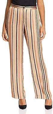 Marina Rinaldi Remare Striped Straight-Leg Pants