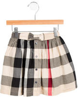 Burberry Girls' Bow-Embellished Nova Check Skirt