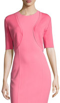 Michael Kors Half-Sleeve Knit Shrug, Pink