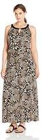Calvin Klein Women's Plus-Size Keyhole Maxi Dress