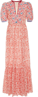 Bohemia Alix Of Alix of Laetitia Printed Cotton-Chiffon Maxi Dress