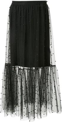 macgraw Beaded Midi Skirt