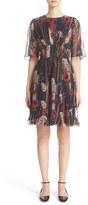 Jason Wu Floral Print Silk Chiffon Dress