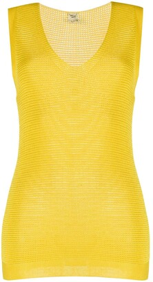 Hermes pre-owned V-neck knitted top