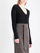 Joseph Cashair V-neck oversized cashmere jumper