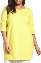 Eileen Fisher Plus Size Women's Stretch Organic Cotton Jersey Tunic