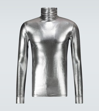 Raf Simons Metallic turtleneck pullover
