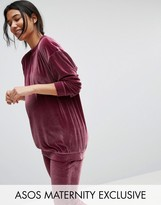 Asos Lounge Velvet Sweatshirt