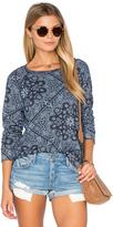 Sundry Bandana Pattern Fleece Sweatshirt