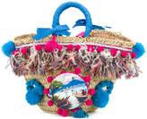 Emanuela Caruso pom-pom embellished tote