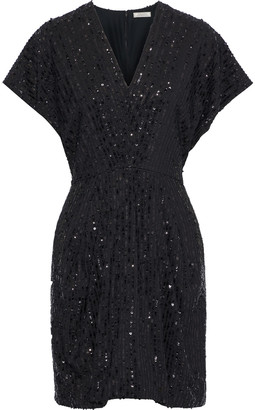 Nina Ricci Sequin-embellished Crepe Mini Dress