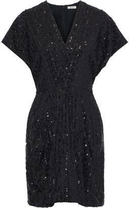 Nina Ricci Sequin-embellished Crepe Mini Dress
