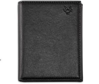 Watson & Wolfe Trifold Wallet For Key Wallet Chain In Black