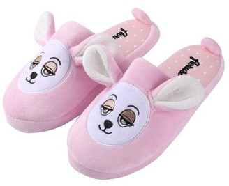 Sumaclife Kid's Itsy Plush Teddy Bear Cozy House Slippers for Indoors