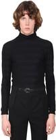 Saint Laurent Lurex Cotton Jersey Turtleneck Sweater