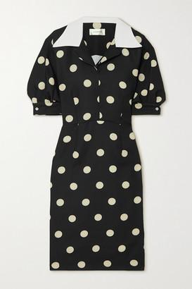 Wales Bonner Vilma Polka-dot Satin Dress - Black