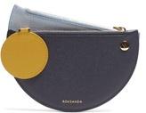 Roksanda Demi-lunette bi-colour leather coin purse