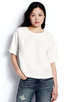 Lands' End Women's Short Sleeve Tencel Tee-Chalk White