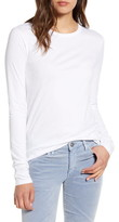 AG Jeans LB Long Sleeve Stretch Cotton Top